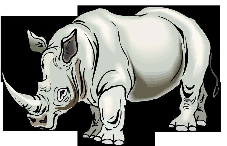 brown rhino clipart - clip art library