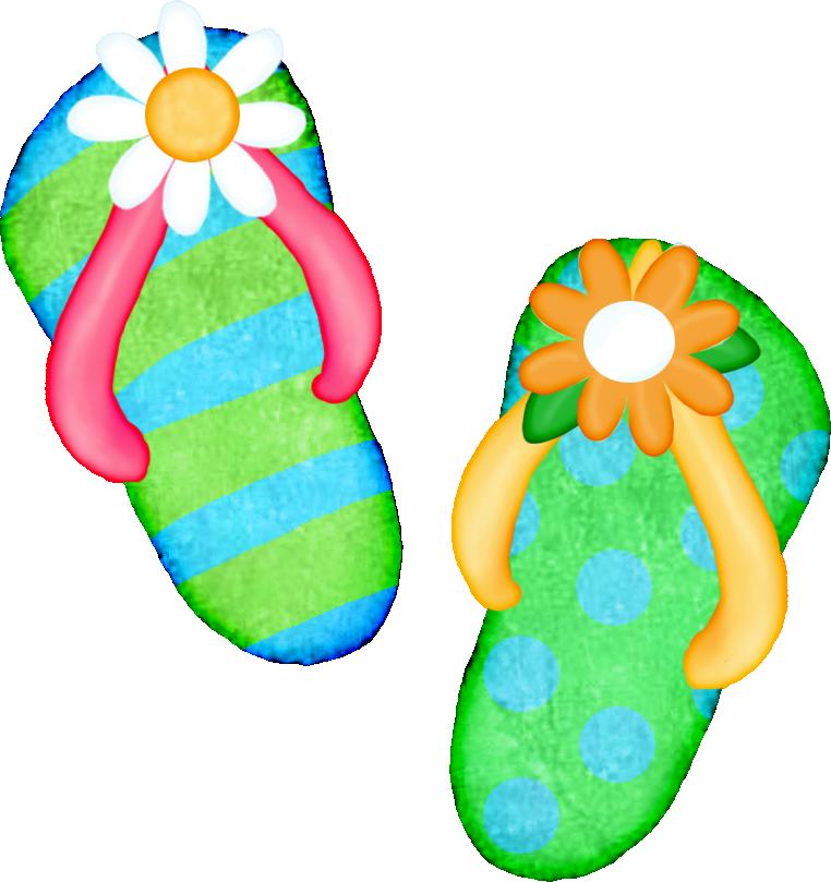 Beach Sandals Clipart