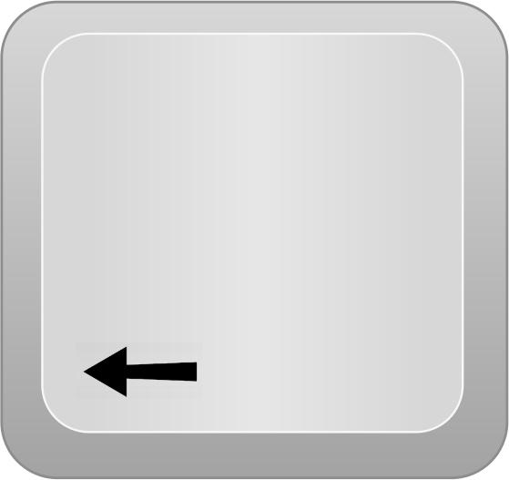 Keyboard Right Arrow Key Clip Art Library