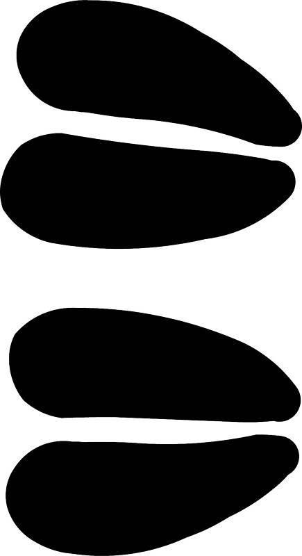 moose track footprint sticker