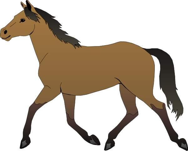 Walking Horse Outline: Walking Horse Outline Clip Art Free Vector In Open Office