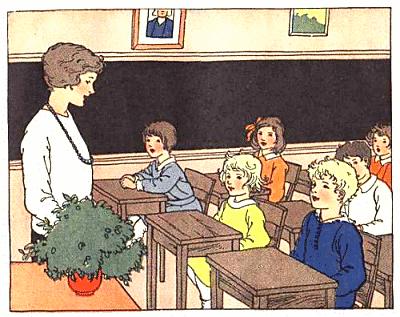 Teacher speaking to class clipart
