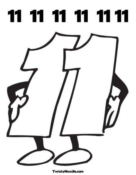 eleven clipart black and white - Clip Art Library