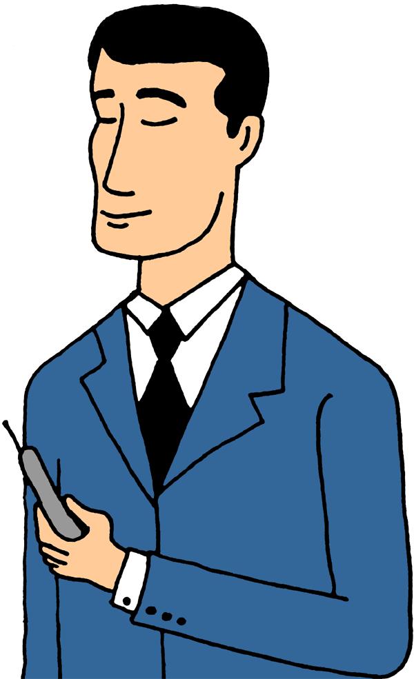 Quiet Person Clip Art Man