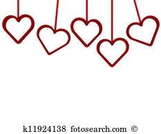 Row Of Hearts Clipart