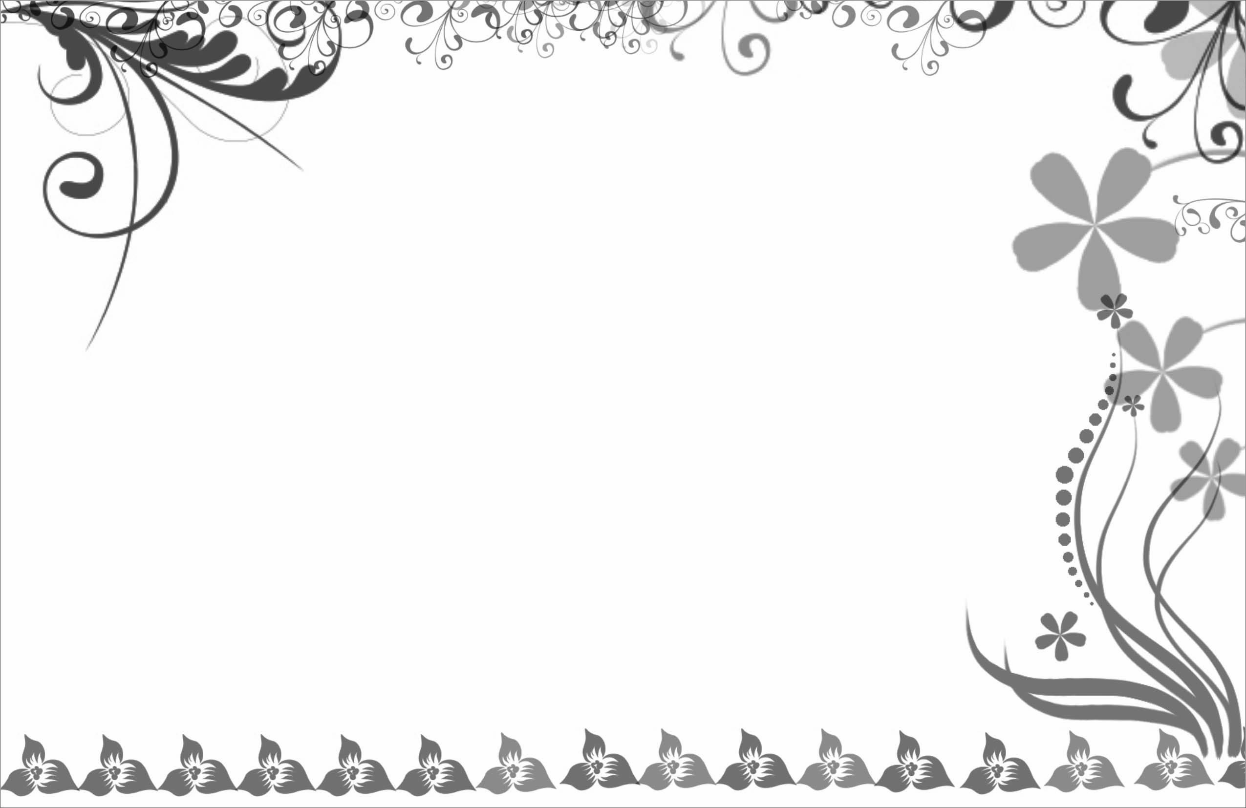 Wedding Card Border Design Vector Png - Clip Art Library