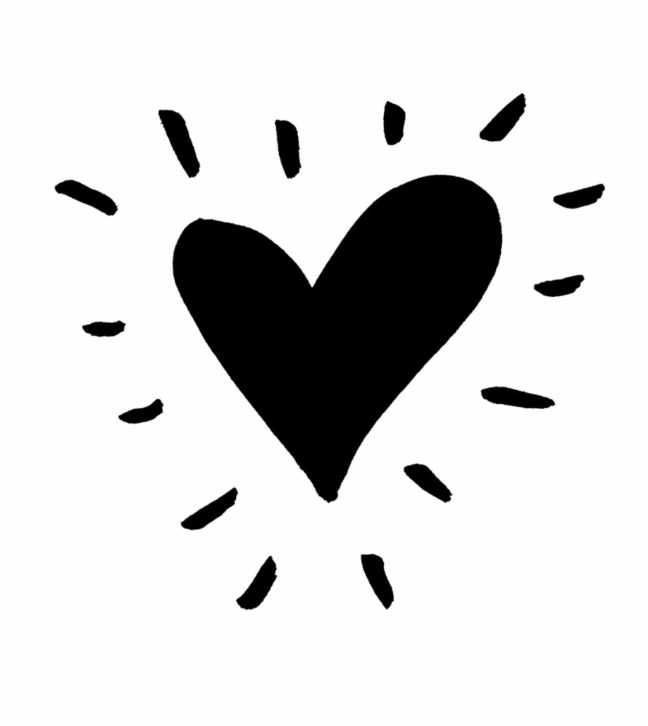 2 20663 heart black funky heart png