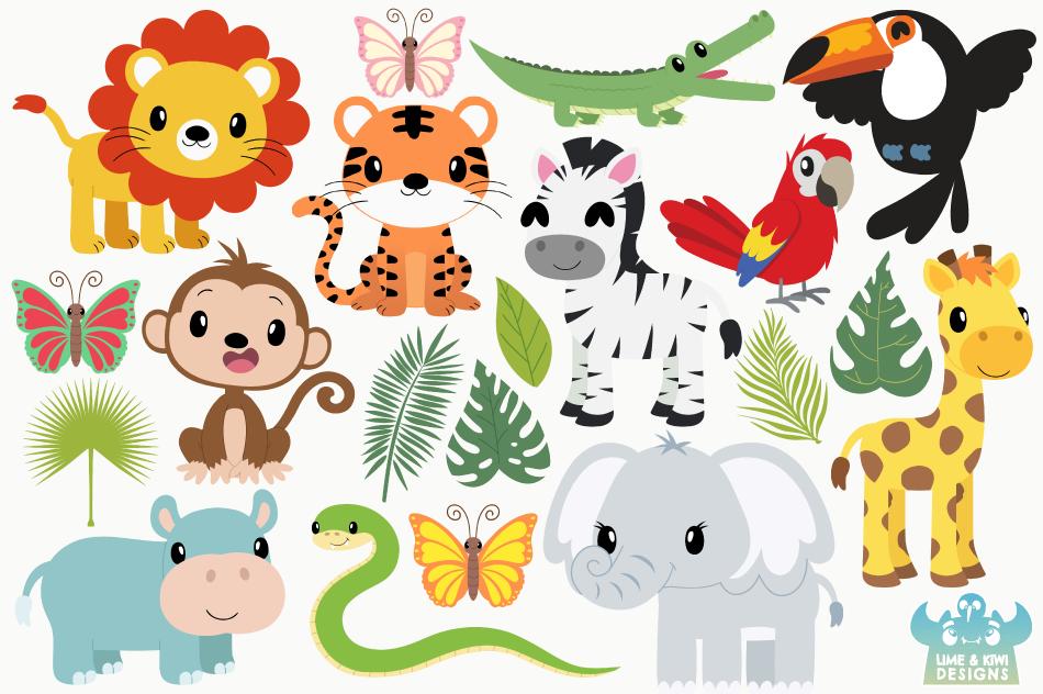 Jungle Animals Clipart Clip Art Library