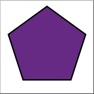 Clip Art: Shapes: Pentagon Color Unlabeled I abcteach ...